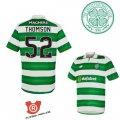 Camiseta Thomson Celtic Primera 2017 Verde y Blanco