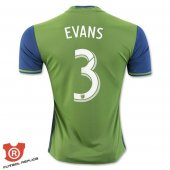 Camiseta Evans Seattle Sounders Primera 2017 Verde