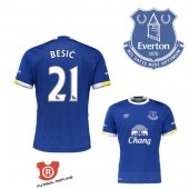 Camiseta Besic Everton Primera 2017 Azul