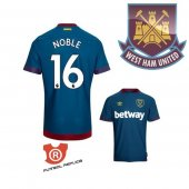 Camiseta Jugador Noble West Ham United Segunda 2019 Azul