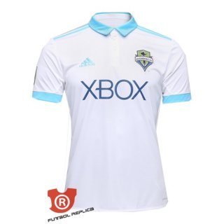 Camiseta Seattle Sounders Segunda 2018 Blanco Tailandia