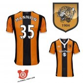 Camiseta Mannion Hull City Primera 2017 Naranja y Negro
