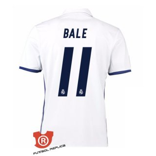 Camiseta Bale Real Madrid Primera 2017 Blanco