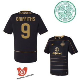Camiseta Griffiths Celtic Segunda 2017 Negro