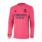 Camiseta Manga Larga Real Madrid Segunda 2021 Rosa