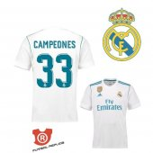 Camiseta Campeones Real Madrid Primera 2018 Blanco