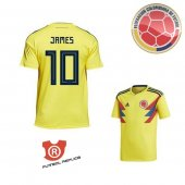 Camiseta James Colombia Primera 2018 Amarillo