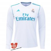 Camiseta Manga Larg Real Madrid Primera 2018 Blanco