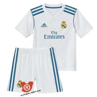 Camiseta Nino Real Madrid Primera 2018 Blanco