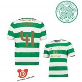 Camiseta Fisher Celtic Primera 2018 Verde y Blanco