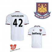 Camiseta Samuelsen West Ham United Segunda 2017 Blanco