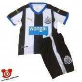 Camiseta Nino Newcastle United Primera 2016 Blanco y Negro