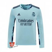 Camiseta Manga Larga Real Madrid Portero 2021 Azul