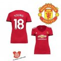 Camiseta Young Mujer Manchester United Primera 2018 Rojo