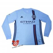 Camiseta Manga Larga New York City Primera 2020 Azul