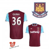 Camiseta Quina West Ham United Primera 2017 Rojo
