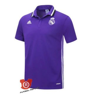 Camiseta Real Madrid Polo Purpura 2017