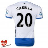 Camiseta Cabella Newcastle United Primera 2016 Blanco