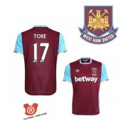 Camiseta Tore West Ham United Primera 2017 Rojo