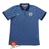 Camiseta Manchester City Polo 2017 Azul