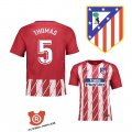 Camiseta Thomas Atletico Madrid Primera 2018 Rojo y Blanco