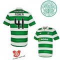 Camiseta Fisher Celtic Primera 2017 Verde y Blanco