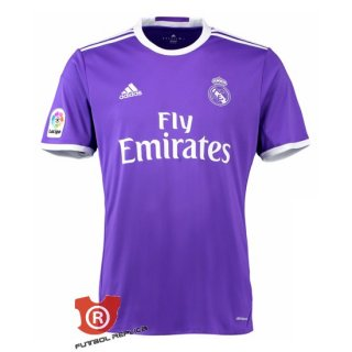 Camiseta Real Madrid Segunda 2017 Purpura