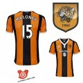 Camiseta Maloney Hull City Primera 2017 Naranja y Negro