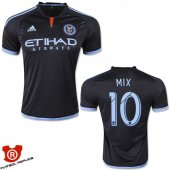 Camiseta Mix New York City Segunda 2015 Negro Tailandia