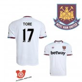 Camiseta Tore West Ham United Segunda 2017 Blanco