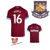 Camiseta Jugador Noble West Ham United Primera 2019 Rojo