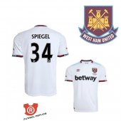 Camiseta Spiegel West Ham United Segunda 2017 Blanco