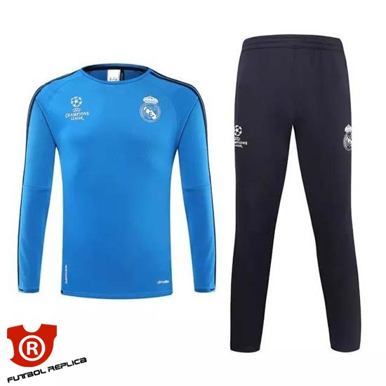 f04a0ce0d7248 Camiseta Real Madrid Entrenamiento UCL Azul 2016